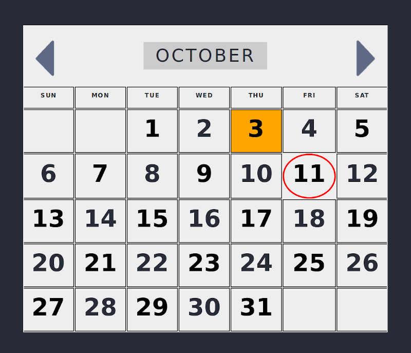 Epicyon calendar