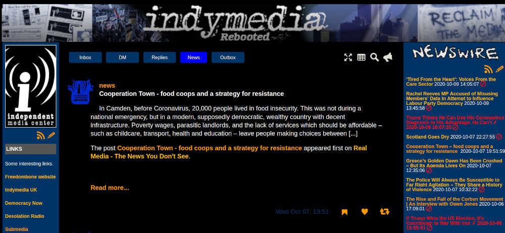 Indymedia theme for Epicyon
